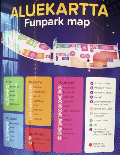 Funparkin aluekartta