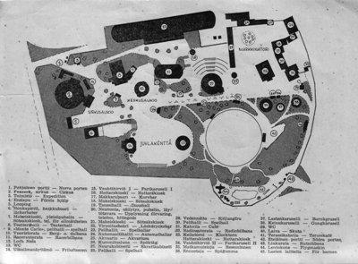 Linnanmäen kartta vuodelta 1951