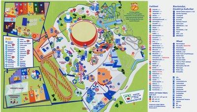 Linnanmäen kartta vuodelta 2008